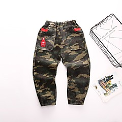 billige Bukser og leggings til piger-Børn / Baby Pige Gade Trykt mønster Bomuld / Polyester Bukser Army Grøn 100