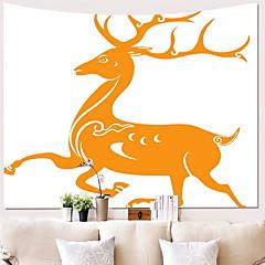 billige Veggdekor-Elk Veggdekor 100% Polyester Klassisk / Vintage Veggkunst, Veggtepper Dekorasjon