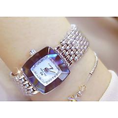 billiga Klockor-Dam Armbandsur Quartz Diamant Imitation Legering Band Ramtyp Mode Silver / Guld - Guld Silver / Rostfritt stål