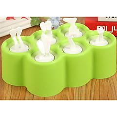 billige Bakeredskap-Bakeware verktøy Plast silica Gel Kreativ Kjøkken Gadget For Iskrem Rektangulær 1pc