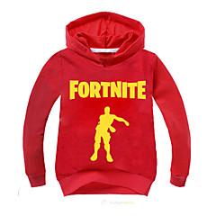billige Hættetrøjer og sweatshirts til piger-Børn / Baby Drenge Basale Trykt mønster Langærmet Bomuld Hættetrøje og sweatshirt