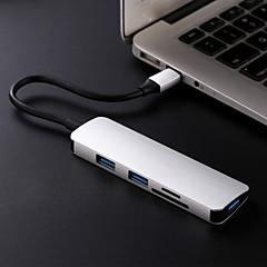 billige USB Hubs & Kontakter-5 USB Hub USB 3.1 Type C USB 3.1 Type C Ultra Slim / OTG / Spil med Apple Logo Data Hub