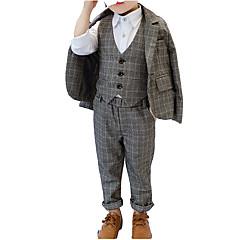 billige Tøjsæt til drenge-Børn Drenge Ternet Langærmet Tøjsæt
