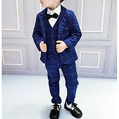 billige Tøjsæt til drenge-Børn Drenge Ruder Langærmet Tøjsæt