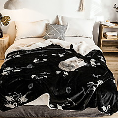 cheap Blankets & Throws-Bed Blankets, Geometric Cotton / Polyester Thicken Blankets