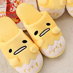 baratos Chinelos-Chinelos de Mulher Pantufas Casual Veludo Estampado Animal Sapatos