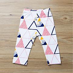 billige Bukser og leggings til piger-Baby Pige Aktiv / Basale Daglig / Sport Geometrisk Trykt mønster Bomuld Bukser Hvid