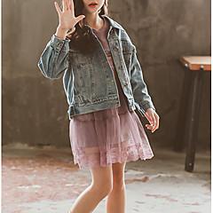 tanie Odzież dla dziewczynek-Dzieci Dla dziewczynek Podstawowy Nadruk Długi rękaw Bawełna Garnitur / marynarka