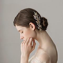 Χαμηλού Κόστους Αξεσουάρ για Πάρτι-Στρας Κομμάτια μαλλιών με Τεχνητό διαμάντι 1 Τεμάχιο Γάμου / Πάρτι / Βράδυ Headpiece