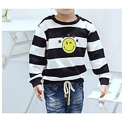 billige Overdele til drenge-Børn Drenge Stribet Langærmet T-shirt