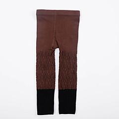 billige Undertøj og sokker til piger-Baby Pige Vintage Ensfarvet Bomuld Undertøj og strømper Gul