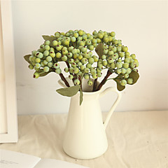 billige Kunstige blomster-Kunstige blomster 1 Gren Klassisk Enkel Stil Pastorale Stilen Planter Frukt Bordblomst