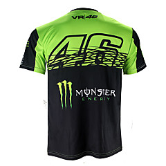 tanie Kurtki motocyklowe-motogp t-shirt strój do jazdy konnej motocykl vr46 knight locy bawełna krótki rękaw koszulka trykotowa wyścigowa
