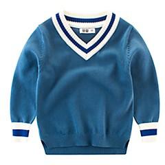 billige Sweaters og cardigans til drenge-Baby Drenge Basale Trykt mønster Langærmet Polyester Trøje og cardigan Blå
