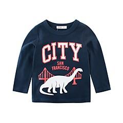 billige Overdele til drenge-Børn Drenge Blå & Hvid Trykt mønster Langærmet T-shirt