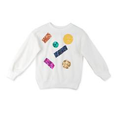 billige Hættetrøjer og sweatshirts til piger-Børn Pige Trykt mønster Langærmet Hættetrøje og sweatshirt