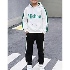 billige Tøjsæt til drenge-Børn Drenge Geometrisk Langærmet Tøjsæt