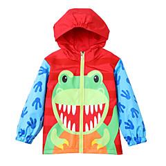 billige Jakker og frakker til piger-Børn Pige Geometrisk / Farveblok Langærmet Trenchcoat