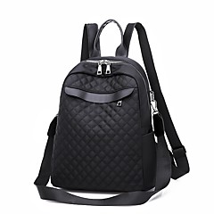 cheap Backpacks-Women's Bags PU(Polyurethane) Backpack Zipper Solid Color Black