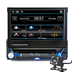 cheap Car DVD Players-7 inch 1 DIN Other High Definition / Built-in Bluetooth / Volume Control for universal Support / Memory Storage / 3D Interface / Sounds / Multi-function / SD / USB Support