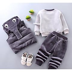 billige Tøjsæt til piger-Børn Pige Basale Daglig Ensfarvet Langærmet Normal Normal Bomuld / Polyester Tøjsæt Lyserød