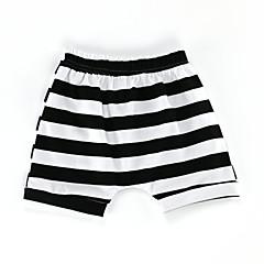 baratos Roupas de Meninas-Bébé Para Meninas Activo / Básico Diário / Esportes Listrado Algodão Shorts Azul