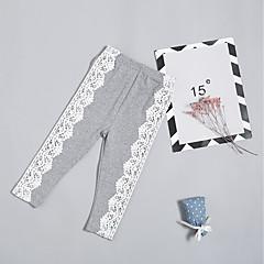 billige Babyunderdele-baby piger 'street chic / grundlæggende ferie patchwork blonde bomuld leggings