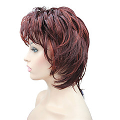 cheap Wigs & Hair Pieces-Synthetic Wig Women's Wavy Gray Pixie Cut / Layered Haircut / With Bangs Synthetic Hair Highlighted / Balayage Hair Gray Wig Short Capless Grey Red