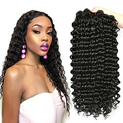 3 Bundles Brazilian Hair Deep Wave Virgin Human Hair Wig Accessories Gifts  Cosplay Suits 8-28 inch Natural Color Human Hair Weaves Cute Best Quality  Hot ... 66ac0bb37