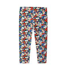 billige Bukser og leggings til piger-Baby Pige Aktiv Daglig Geometrisk Polyester Leggings Regnbue