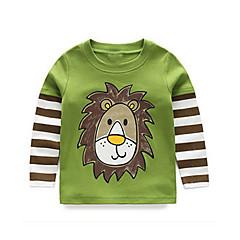 preiswerte Mode für Jungen-Baby Jungen Aktiv Alltag Solide / Gestreift / Geometrisch Langarm Standard Polyester T-Shirt Grün