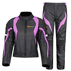 baratos Jaquetas de Motociclismo-RidingTribe Roupa da motocicleta Conjunto de calças de jaqueta para Feminino Algodão Outono / Inverno Impermeável / Resistente ao Desgaste / Melhor qualidade