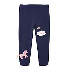 billige Bukser og leggings til piger-Baby Pige Aktiv Daglig Ensfarvet / Geometrisk Polyester Leggings Lyserød