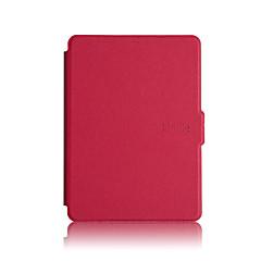 tanie Torby na laptopa-Kılıf Na Kindle / Amazon Osłona tylna / Pełne etui / Etui odporne na wstrząsy Pełne etui Solidne kolory Twardość Skóra PU na
