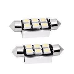billige Interiørlamper til bil-2pcs 39mm Bil Elpærer 1 W SMD 5050 80 lm 6 LED Baklys / interiør Lights Til Universell Universell Universell