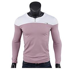男性用 Tシャツ ストリートファッション カラーブロック