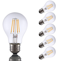 tanie Dekorativní osvětlení-GMY® 6 szt. 4 W 350 lm E26 / E27 Żarówka dekoracyjna LED A19 4 Koraliki LED COB Dekoracyjna Ciepła biel 120 V