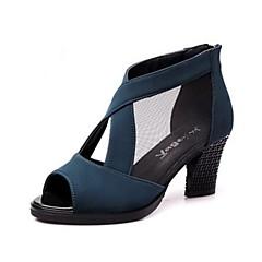 Per donna Scarpe per balli latini Sintetico Tacchi Tacco cubano Personalizzabile Scarpe da ballo Nero / Verde / Rosso scuro