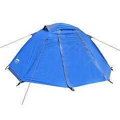 billige Telt og ly-DesertFox® 1 person Telt Dobbelt camping Tent Ett Rom Brette Telt Vanntett Ultra Lett (UL) Regn-sikker til Camping 2000-3000 mm Oxford CM