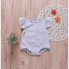 economico Abbigliamento per neonati Per bambino-Bambino Da ragazzo Attivo / Essenziale A strisce Alla moda Maniche corte Cotone Body Grigio chiaro