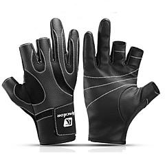 preiswerte -Handschuhe fürs Angeln Vollfinger Leicht warm halten tragbar PU-Leder Nylonfaser Frühjahr, Herbst, Winter, Sommer Unisex