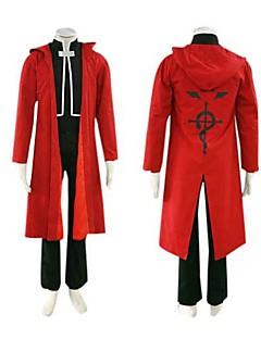 """Inspirert av Helmetall Alkemist Edward Elric Anime  """"Cosplay-kostymer"""" Cosplay Klær Langermet Frakk Vest Bukser Kappe Til Mann"""