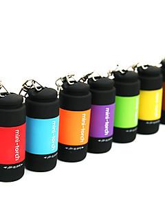 baratos Total Promoção Limpa Estoque-Chaveiros com Lanterna LED 25lm 1 Modo Iluminação Mini / Impermeável Uso Diário Vermelho / Verde / Azul