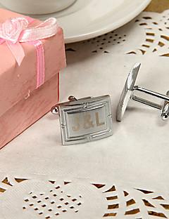 hesapli Broş ve Kol Düğmeleri-Çinko Alaşım Kol Düğmeleri ve Kravat Tokaları Damat Sağdıç Çift Düğün Yıldönümü Doğumgünü