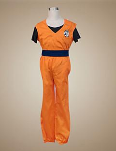 """billige Anime-gensere og hettegensere-Inspirert av Dragon Ball Son Goku Anime  """"Cosplay-kostymer"""" Cosplay Klær Lapper Kortermet Vest / Bukser / Armbånd Til Herre Halloween-kostymer"""