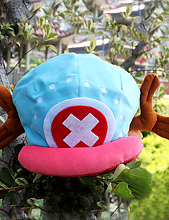 cheap Anime Cosplay-Hat/Cap Inspired by One Piece Tony Tony Chopper Anime Cosplay Accessories Hat Cap Velvet Men's New