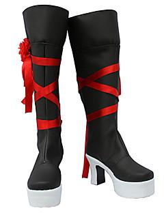 Χαμηλού Κόστους Παπούτσια Anime-Pandora καρδιές ver άλμπουμ. oz vessalius κόκκινη κορδέλα μπότες cosplay μαύρο