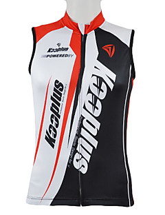 cheap Cycling Vest-Kooplus Cycling Jersey Men's Sleeveless Bike Vest/Gilet Jersey Top Bike Wear Quick Dry Front Zipper Wearable Breathable Patchwork Letter