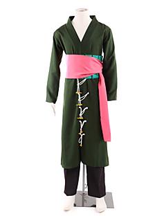 """billige Anime Kostymer-Inspirert av One Piece Roronoa Zoro Anime  """"Cosplay-kostymer"""" Cosplay Klær / Japansk Kimono Lapper Langermet Bukser / Midje Tilbehør / Belte Til Herre Halloween-kostymer"""