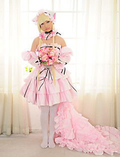 Inspirat de Chobits Chii Anime Costume Cosplay Costume Cosplay Rochii Peteci Manșon Lung Fustă Rochie Mâneci Colier Pentru Feminin
